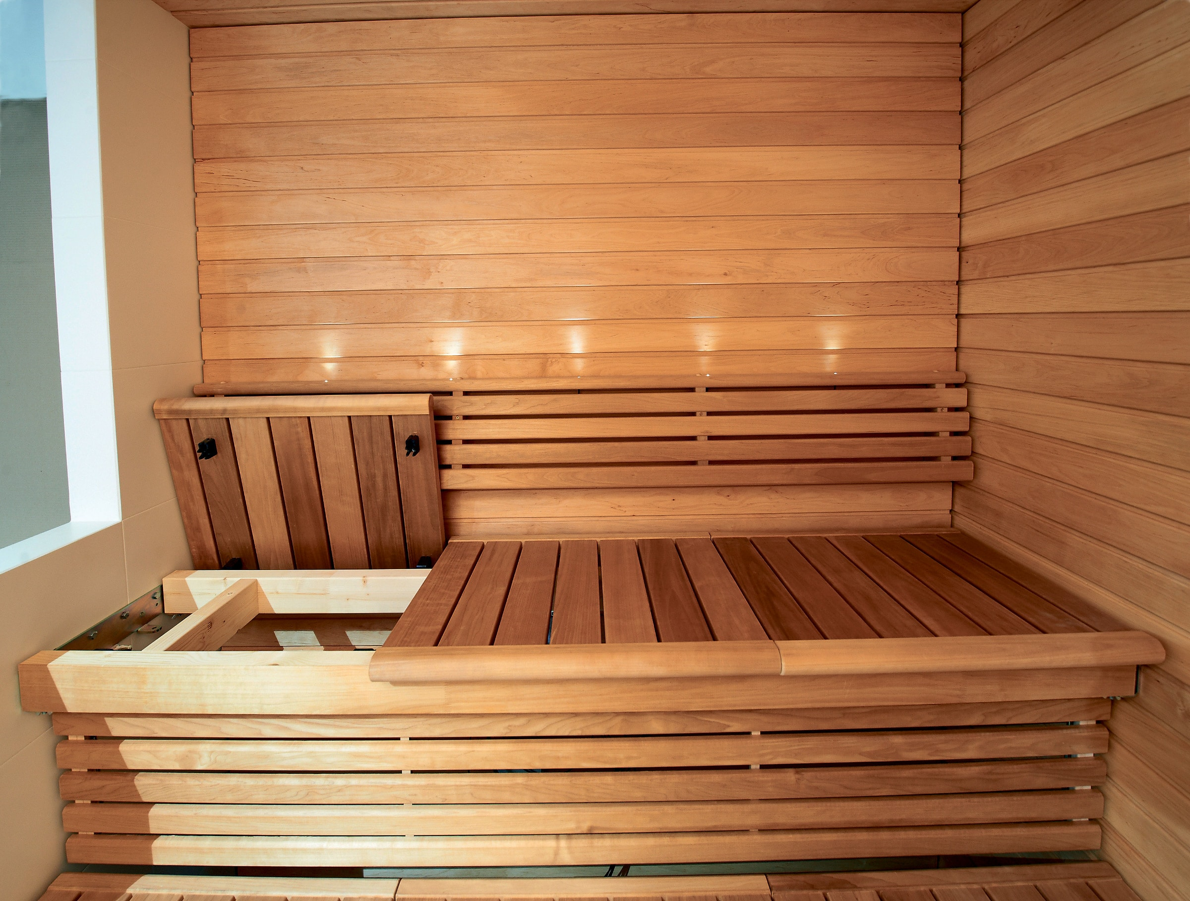 washable sustainable and affordable sauna benches for. Black Bedroom Furniture Sets. Home Design Ideas