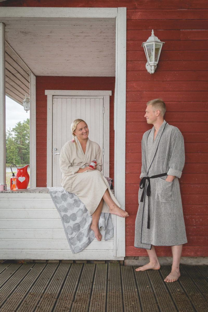 Outdoor home sauna