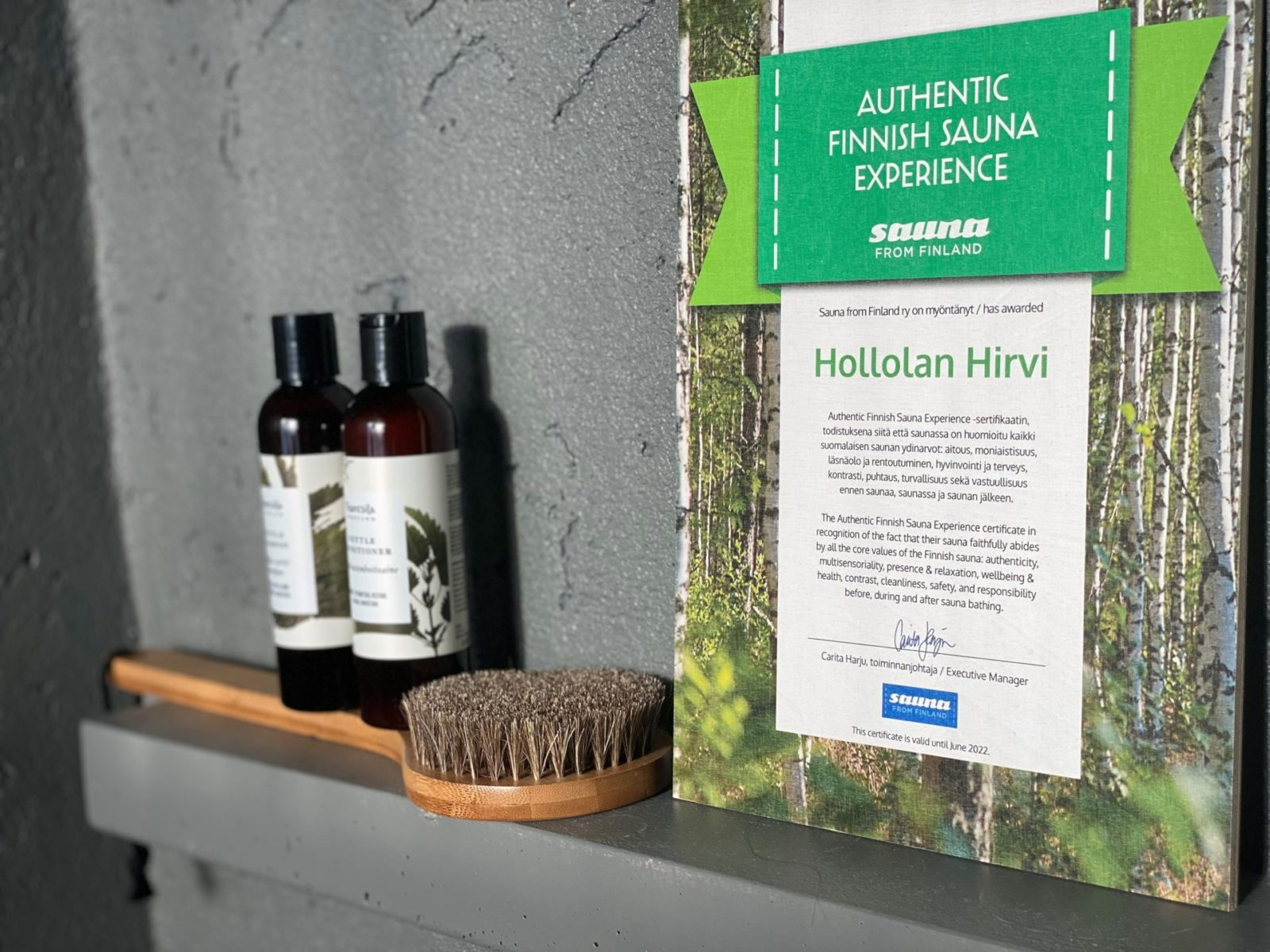 Finnish Sauna Quality Certficate