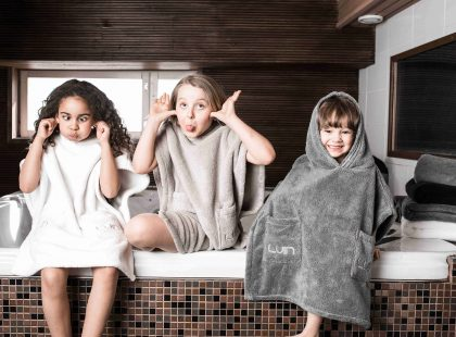 Kids in the sauna