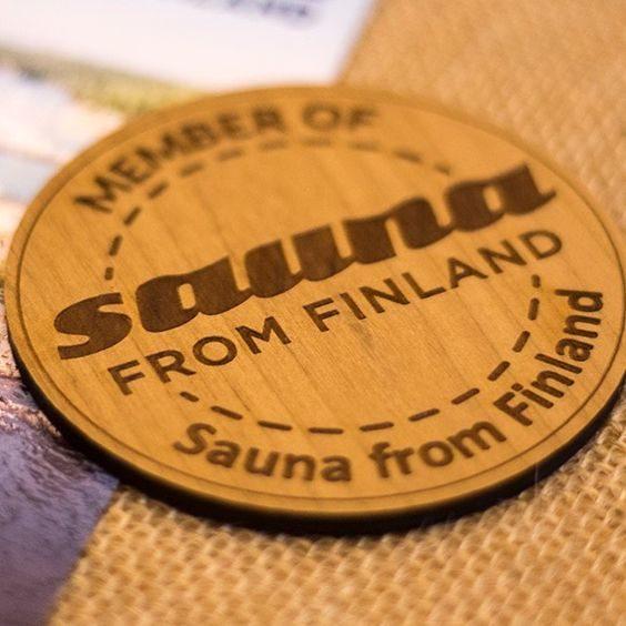 sauna from finland membership badge
