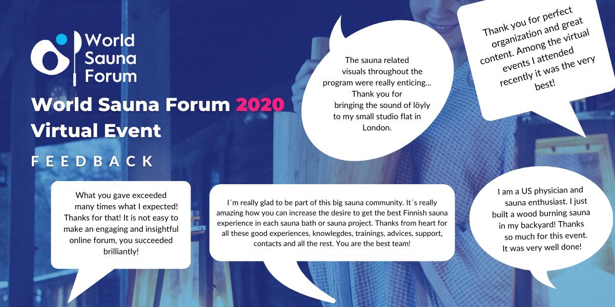 World Sauna Forum 2020 Feedback